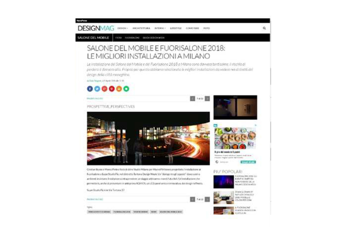 Fuori_Salone dark studio architettura Milano