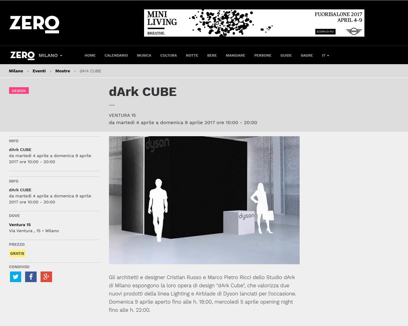Fuorisalone dArk Studio Milano | Dyson Area